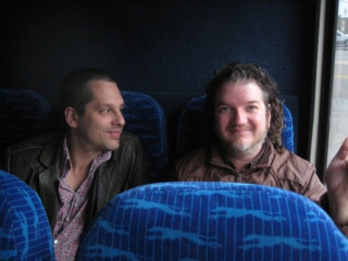Will and I on the bus